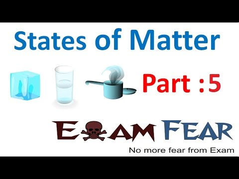 Thermal Energy States of Matter