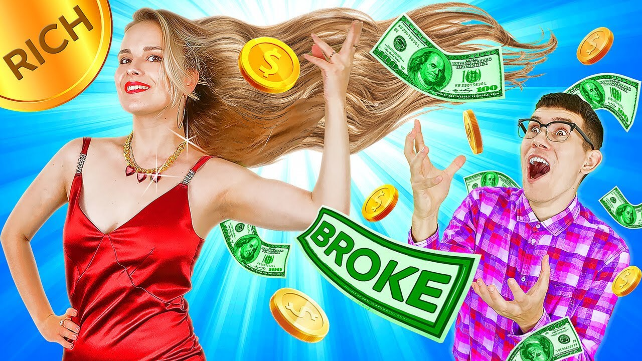 ADOPTED BY BILLIONAIRE VS ADOPTED BY BROKE FAMILY || Rich VS Poor Parents DIY Hacks By 123GO! TRENDS