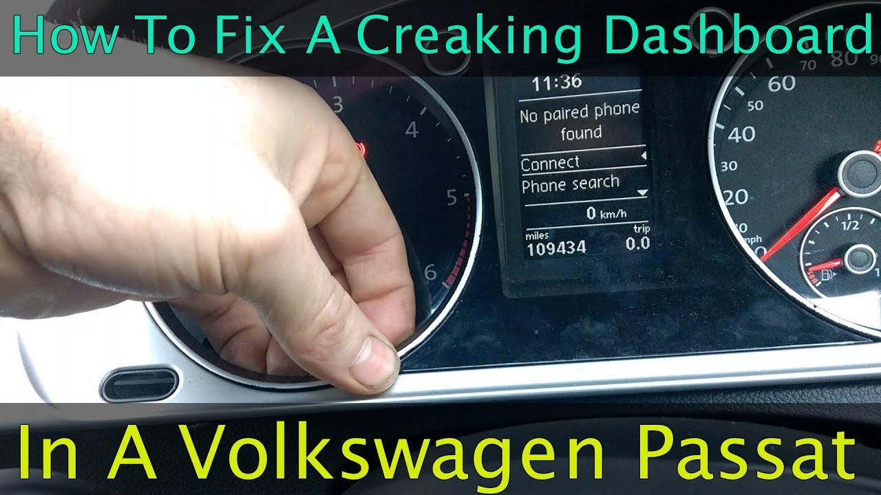 vw passat dashboard noise