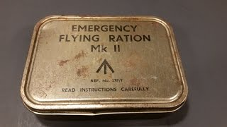 1943 British RAF Emergency Flying Ration MK 2 Military Survival MRE Food Review Time Capsule