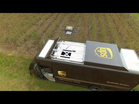 UPS Testing Delivery by Drone