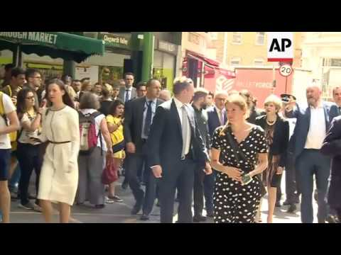 May, Turnbull visit scene of terror attack in London