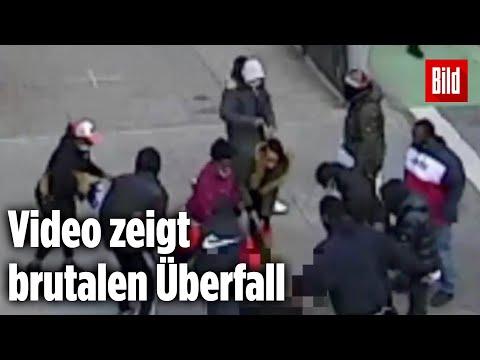 Mann wird auf offener Straße brutal von Gang ausgeraubt