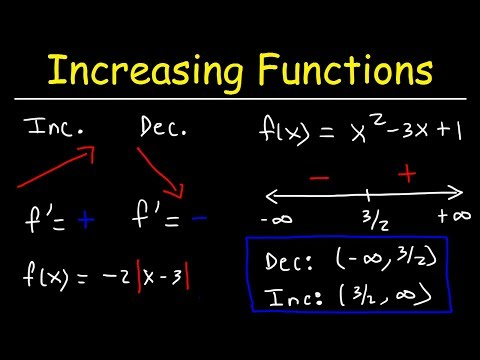 Increasing and Decreasing Functions - Calculus