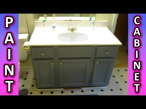 Paint A Cabinet Bathroom Kitchen Cabinets How To Painting Tips Easy Vanity Youtube
