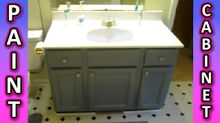 Paint a Cabinet + Bathroom Kitchen Cabinets HOW TO + Painting Tips EASY!!!