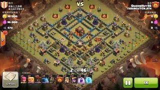 Clash of Clans TH10 vs TH10 Lava Hound & Balloon (Lavaloon) Clan War 3 Star Attack
