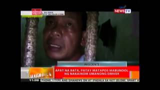 GMANews Balitang Hali: 4 children dead, 3 injured in Biliran road mishap
