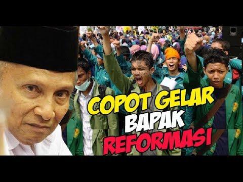 TERBONGKAR Alasan Mahasiswa Yogyakarta Sebut Amien Rais Tak Layak sebagai Amien Rais