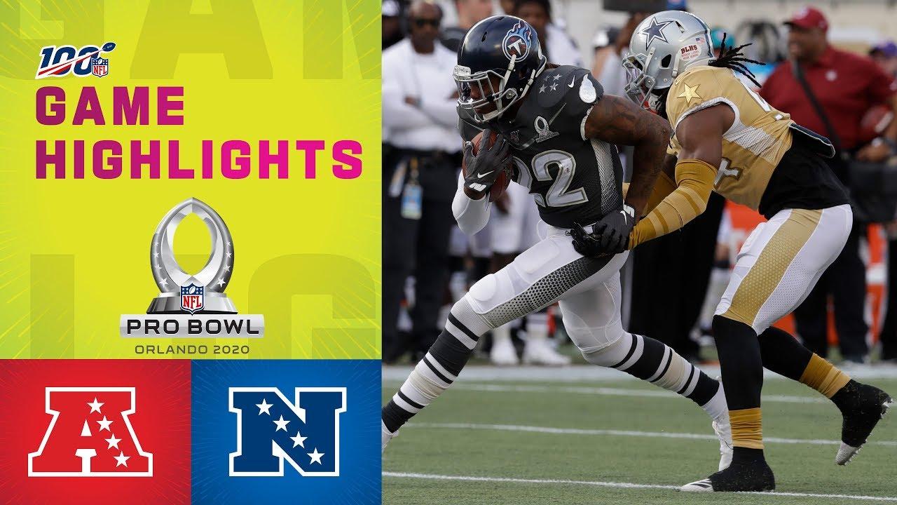 Afc Vs Nfc Pro Bowl Highlights Nfl 2020 Youtube