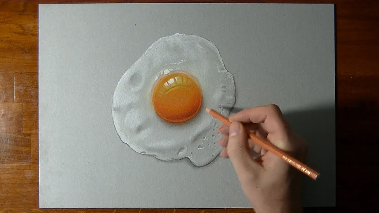 Disegno In Time Lapse Uovo Fritto Youtube