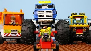 LEGO Vehicles Demolition Derby  STOP MOTION LEGO City: Trucks VS Cars | LEGO | By Billy Bricks
