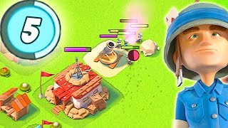Playing as a LEVEL 5 in Boom Beach! Low Level Boom Beach Strategy!
