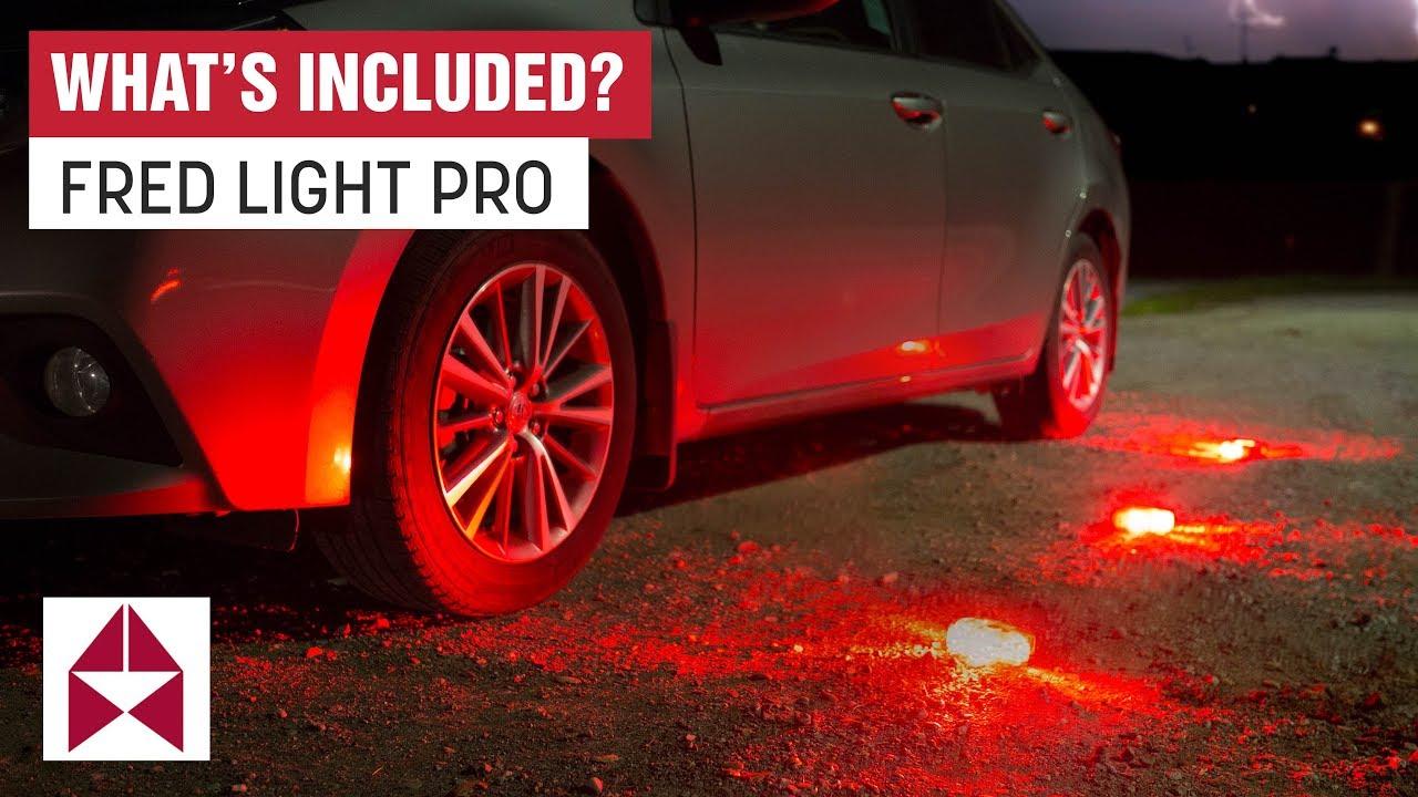 Fred Light Pro Unboxing Flashing Roadside Emergency Disk