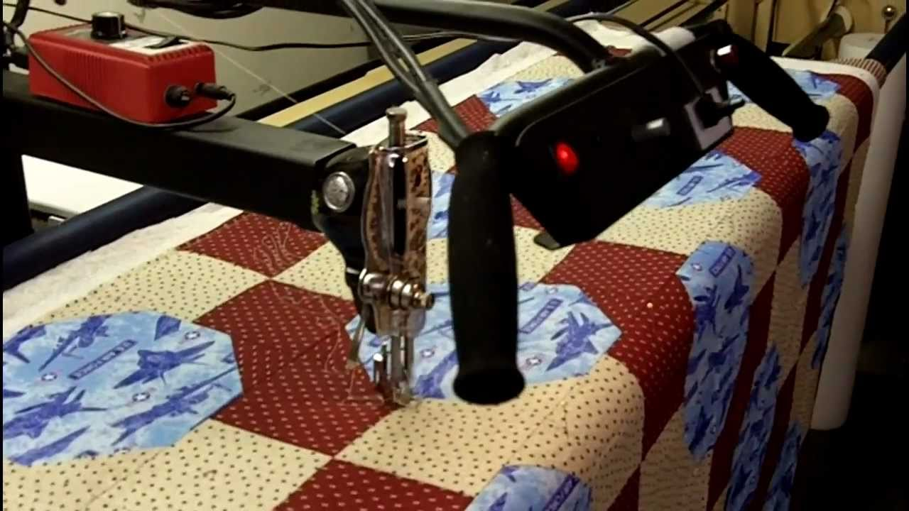 Robotic Quiting with PC Quilter - YouTube