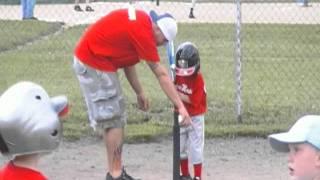 Kids first Tee Ball Game batting!