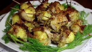 Печёный Картофель - Как Вкусно Запечь Картошку Видео