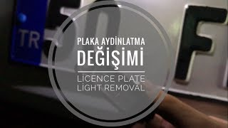 Golf 7 License Plate Light Removal | Plaka Aydınlatma Sökümü