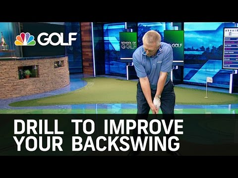 Drill to Improve Your Backswing   Golf Channel