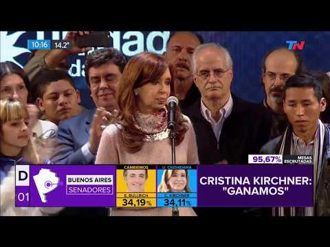 A la madrugada Cristina finalmente habló desde el búnkder de Unidad Ciudadana
