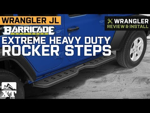 Jeep Wrangler JL Barricade Extreme Heavy Duty Rocker Steps (2018 4 Door) Review & Install