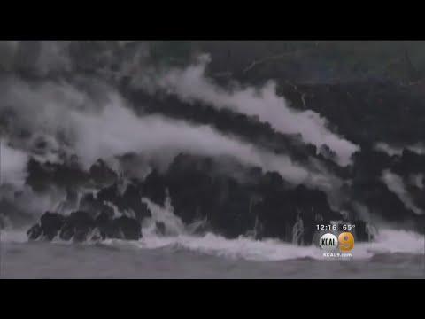 Lava From Erupting Hawaiian Volcano Seeps Into Ocean, Creates Toxic Cloud