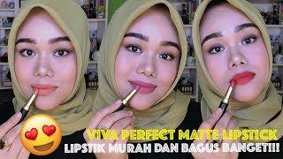 LIPSTIK LOKAL MURAH BAGUS!!! | VIVA COSMETIC PERFECT MATTE LIPSTICK | FATYABIYA