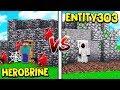 ENTITY 303 HOUSE VS HEROBRINE HOUSE MINECRAFT mp3