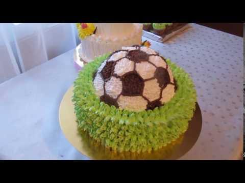 Торт футбольный мяч Кремовые торты  Cake football Cream cakes