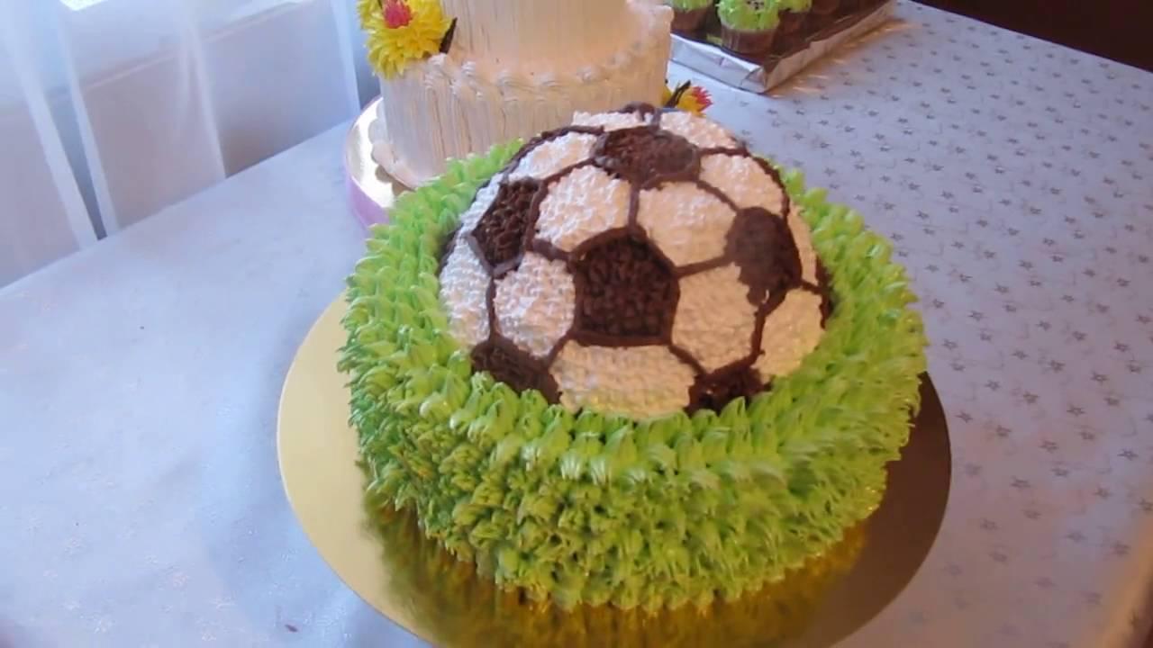 торт футбольный мяч. фото