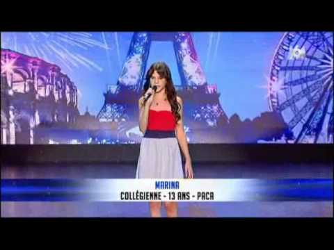 Marina Dalmas 13ans Rolling in the deep incroyable talent