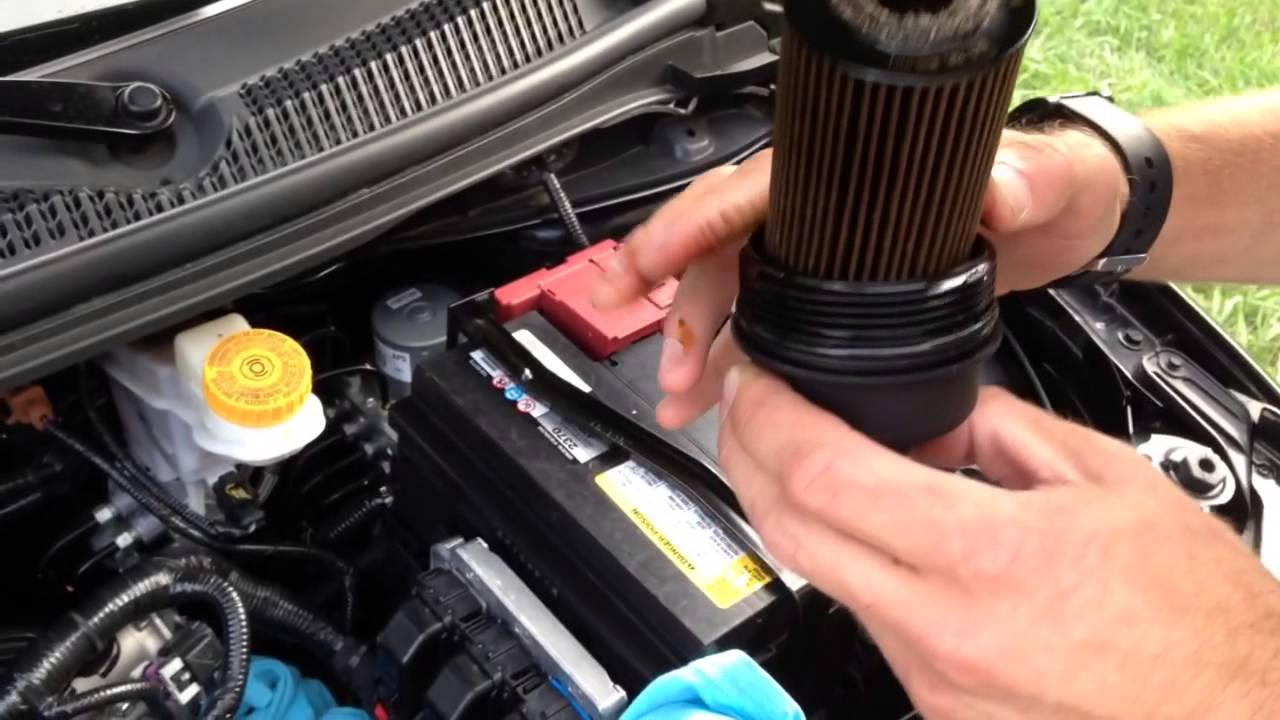 changing the oil in a 2013 chevy sonic