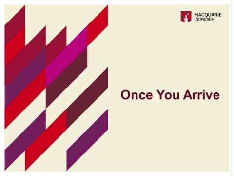 Macquarie University Study Tours Pre Orientation (English)