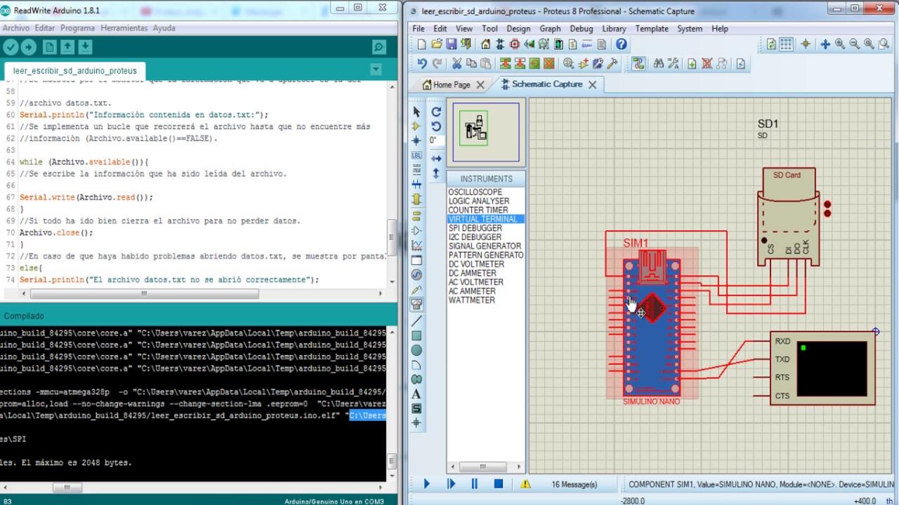 SD CARD arduino-proteus