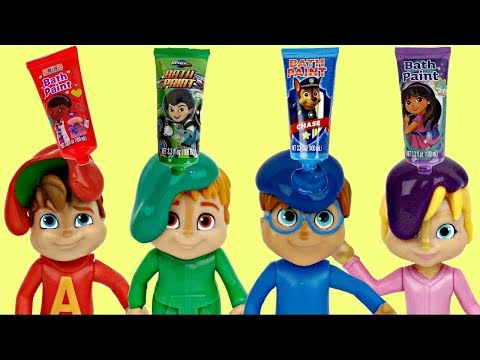 Thumbnail: ALVINNN!!! & THE CHIPMUNKS Learn Colors Bath Fingerpaint Tub Time ORBEEZ, Toy Surprises / TUYC