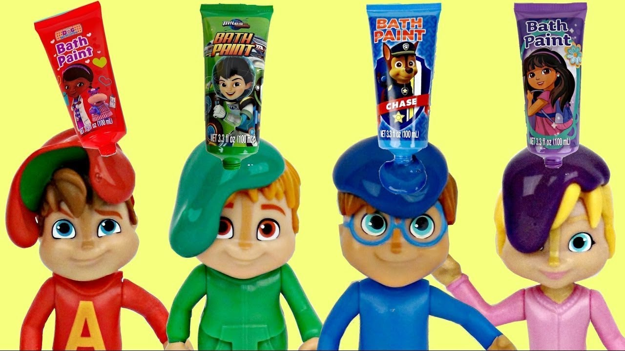 Download Nat & Essie Learn Colors with Alvin and The Chipmunks Bath Paint