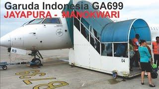 Terbang Bersama Garuda Indonesia GA699 Rute Kota Jayapura - Manokwari, Landing Rendani Airport