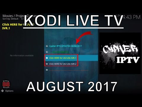 KODI FREE LIVE TV ADDON FOR UK/USA CHANNELS! AUGUST 2017!
