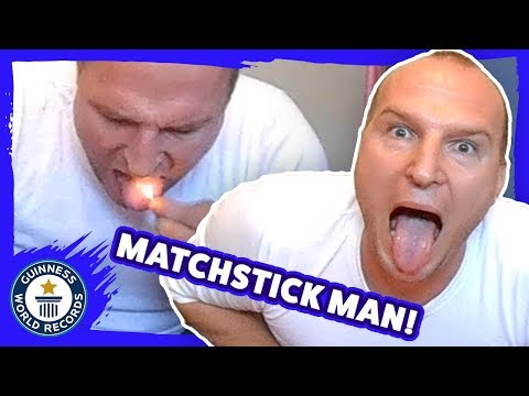 Bodhi - Guinness Record for Most Matchsticks Extinguished on the Tongue (Video)