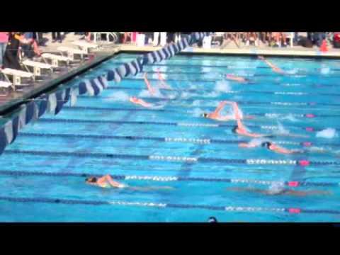 ACHS Swim VC Champs 100 Back Finals 03 20 2013 Michael Patrick Brennen