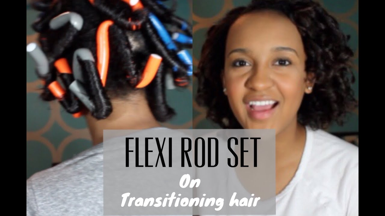 transitioning hair styles flexi rods on transitioning hair 6910
