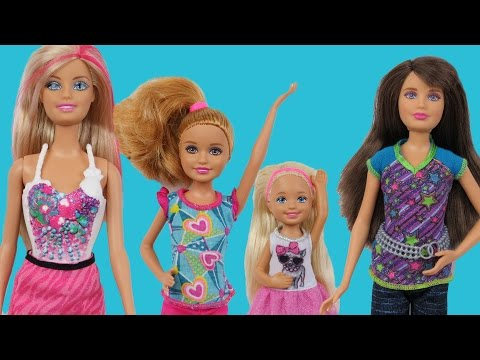 CHELSEA is acting silly! DOLLHOUSE playing! BARBIE, Stacie & Skipper educate Chelsea