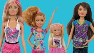 DOLLHOUSE playing ! BARBIE,  Chelsea, Stacie and Skipper