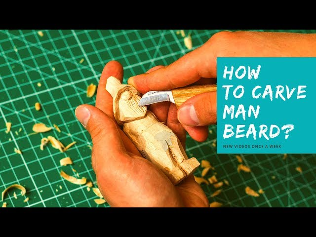 How to Carve a Beard? 👲Easy Wood Carving for Beginners I V-Chisel K12/02