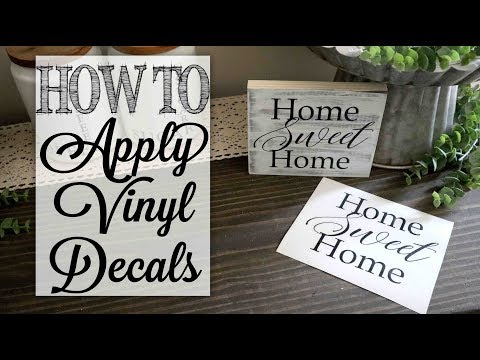 How To Apply Vinyl Decals