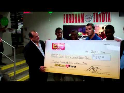 South Bronx United Soccer Club Wins Fordham Toyota's 2nd Giving Back Promotion!