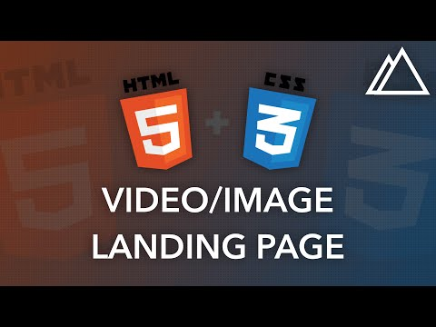 CSS3 + HTML5: Create a Video or Image Landing Page