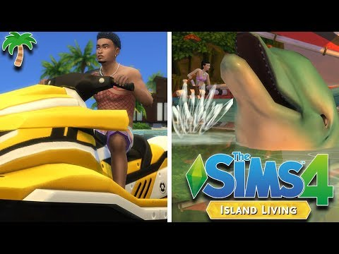 THE SIMS 4 - ISLAND LIVING 🧜‍♀️🌴 | GAMEPLAY (NEW WORLD, OCEAN SWIMMING, WATER VEHICLES, & DOLPHINS)