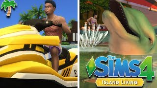 THE SIMS 4 - ISLAND LIVING 🧜♀️🌴 | GAMEPLAY (NEW WORLD, OCEAN SWIMMING, WATER VEHICLES, & DOLPHINS)