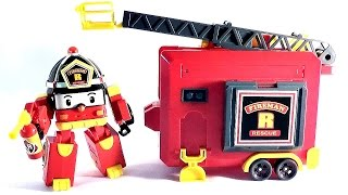 Поли Робокар и Рой с пожарным гаражом - ロボカーポリー 로보카 폴리 Ro-bo-ka Polli
